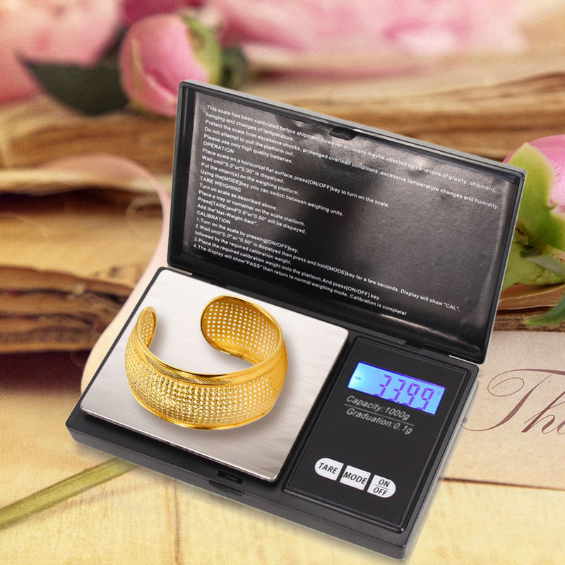 1kg 1000g x 0.1g Precision Digital Pocket Scales for Gold Bijoux Sterling Silver Scale Jewelry Weight balance Electronic Scales