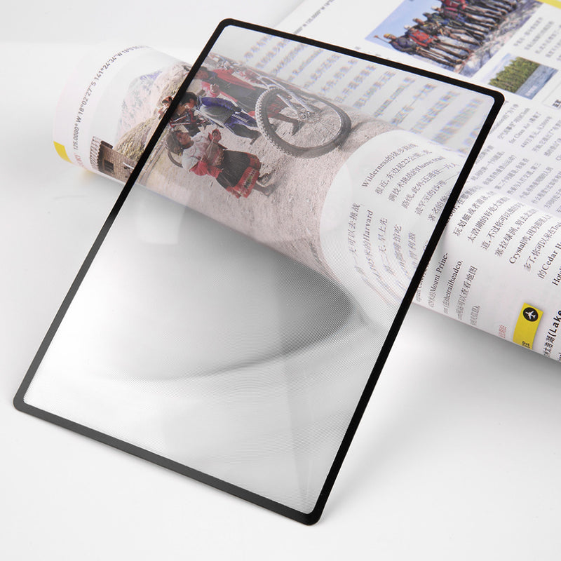 Lupa Magnifier 180X120mm Convinient A5 Flat PVC Sheet X3 Book Page Magnification Magnifying Reading Glass Lens Brand New