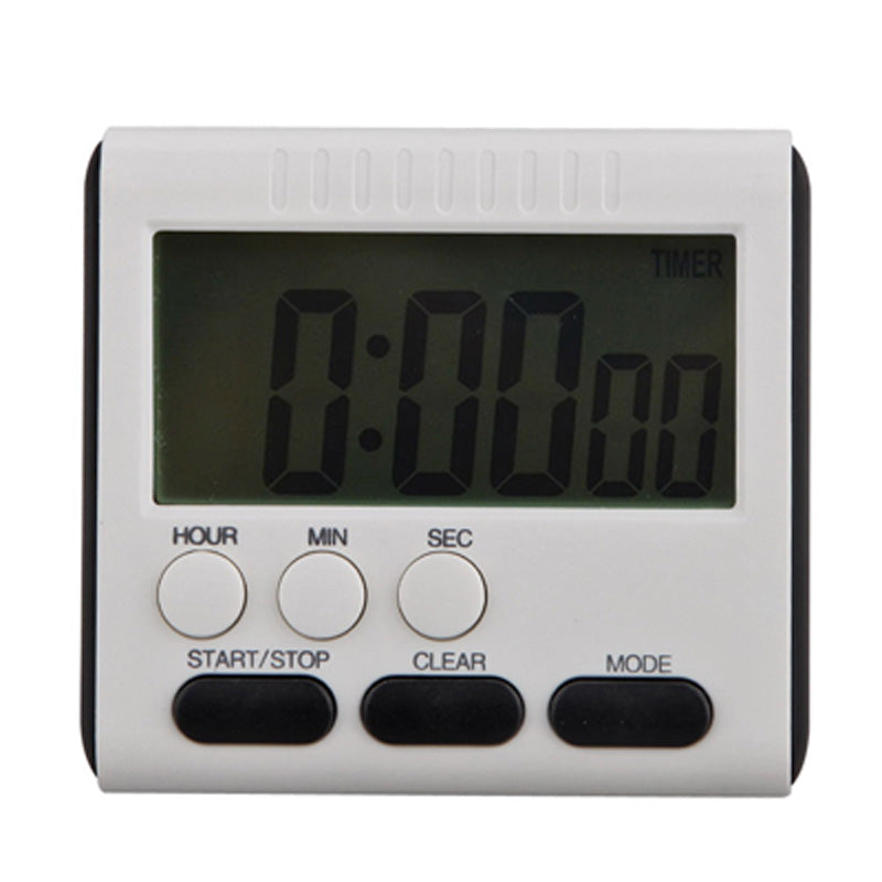Large LCD Magnetic Digital Kitchen Timer Square Cooking Timer Loud Count Up Down Cooking Alarm Clock 24 Hours with Stand FULI