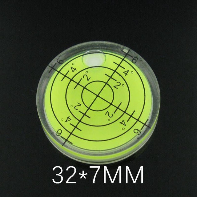 Hot Sale!! 1 PCS White Green Color Plastic Bullseye Bubble level Round Level Bubble Accessories for measuring instrument
