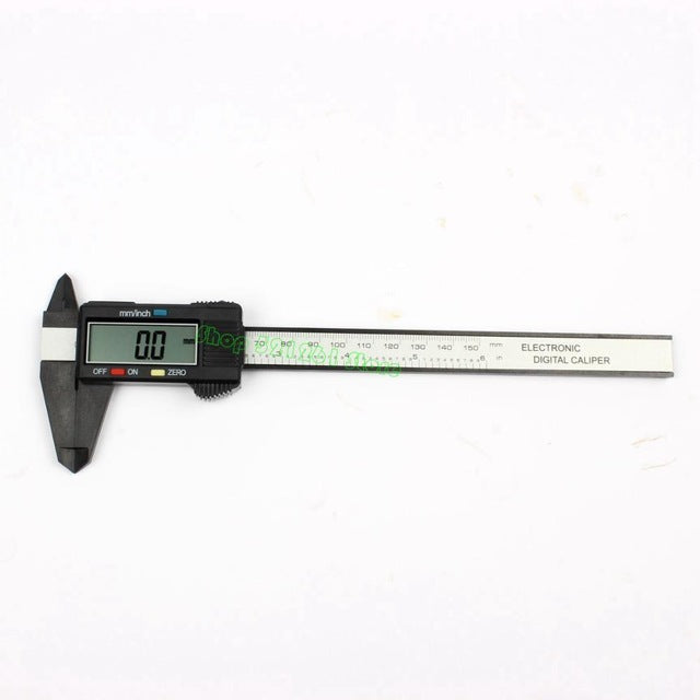 New Arrival 150mm 6 inch LCD Digital Electronic Carbon Fiber Vernier Caliper Gauge Micrometer Measuring Tool  1m tape measure