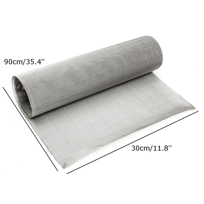 Stainless Steel Woven Wire Filter 100 Mesh Woven Wire Sheet Cloth Screen Filter Sheet 30 x 90cm For Home Tool