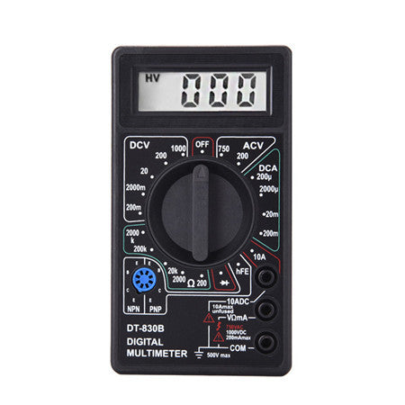 2 Color LCD Digital Multimeter AC/DC 750/1000V Voltmeter Ammeter Ohm Tester Meter Digital Multimeter DT830B Drop Shipping