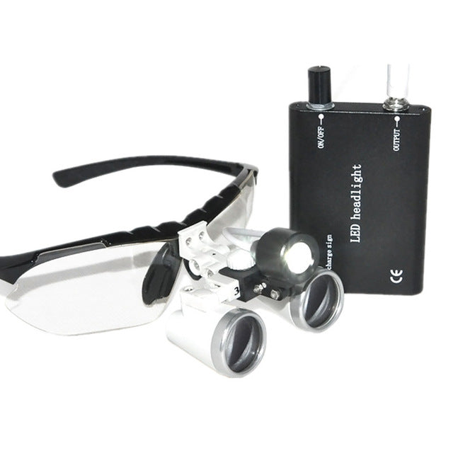 3.5X420mm Dental Surgical Loupe Magnifier, Binocular Magnifier with LED Head Light Lamp Freeshipping Dental Loupes