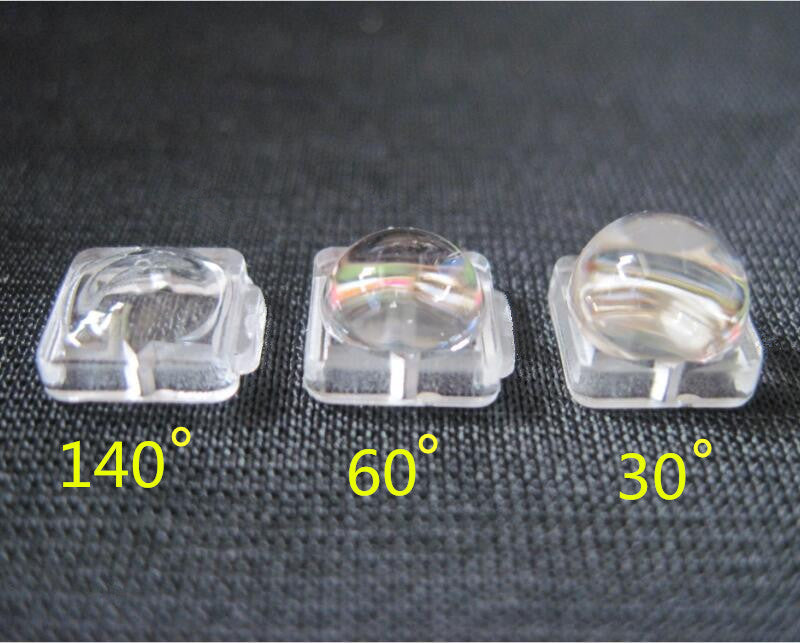 RTU-7.6  High quality 5050 led lens, SMD lens, Size: 7.6X7.6mm, Angle: 30, 60, 140 deg, Suitable for: 5050 Light source, PMMA