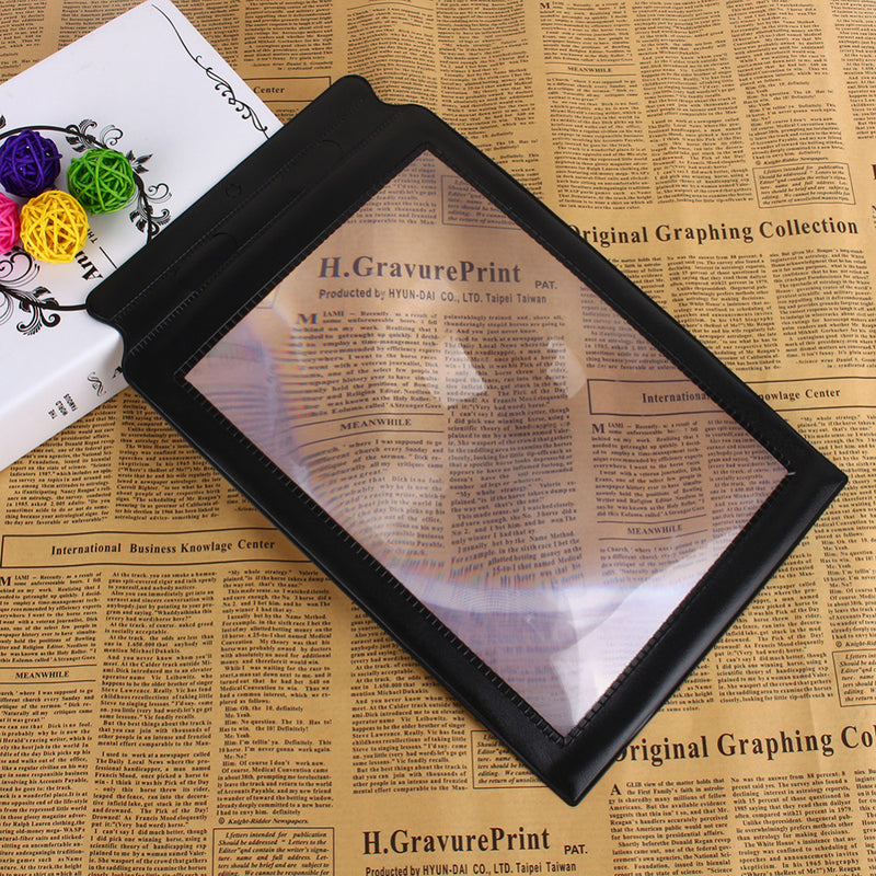3X Large Reading Magnifier Big A4 Full Page Sheet Magnifying Glass Book Reading Aid Lens Page Reading Glass Lens Magnification