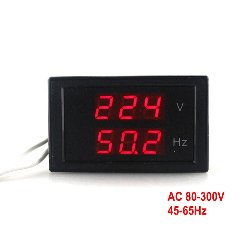 Dual Display Voltage Frequency meter AC 80-300.0V 45-65HZ Frequency Counter Voltmeter Hertz/HZ Meter With Red Led