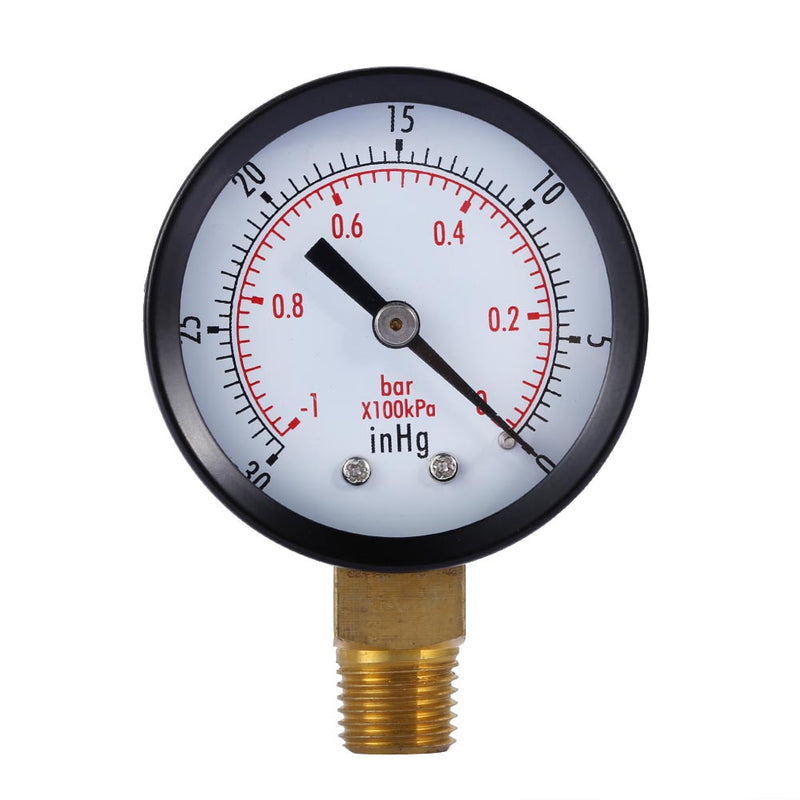 "1/4"" NPT Lower Mount Dry Utility Pressure Gauge 2"" Dial Display Air Compressor Hydraulic Vacuum Gauge Manometer Pressure Tester"