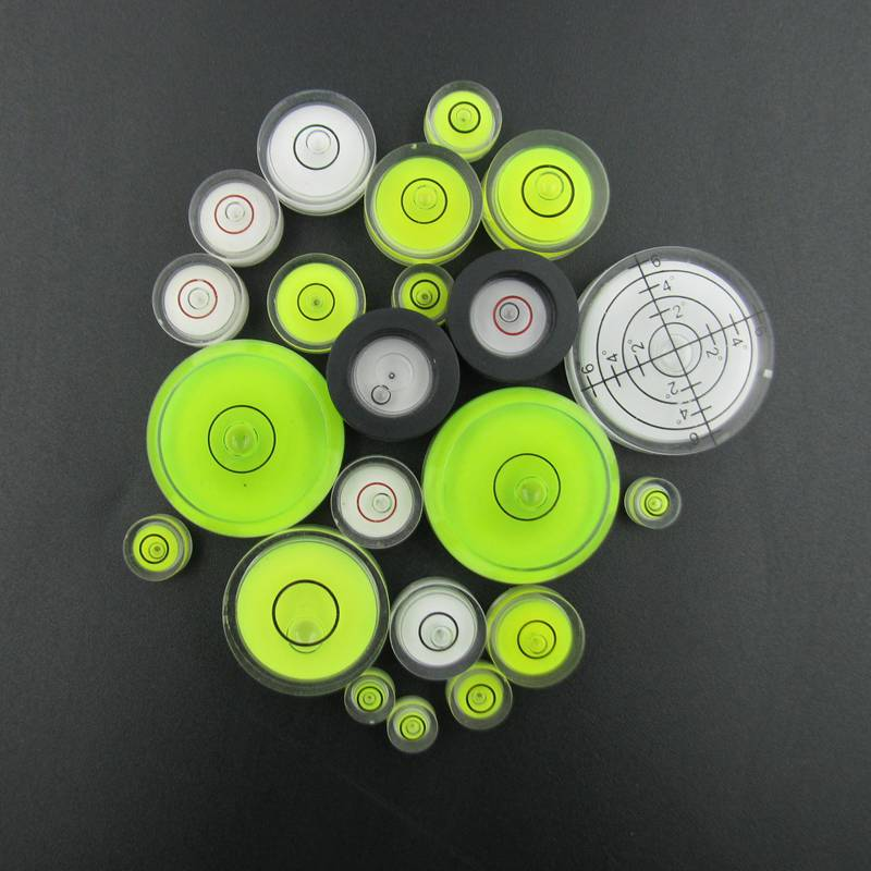 Variety Models available Round bubble level mini spirit level Bubble Bullseye Level measurement instrument