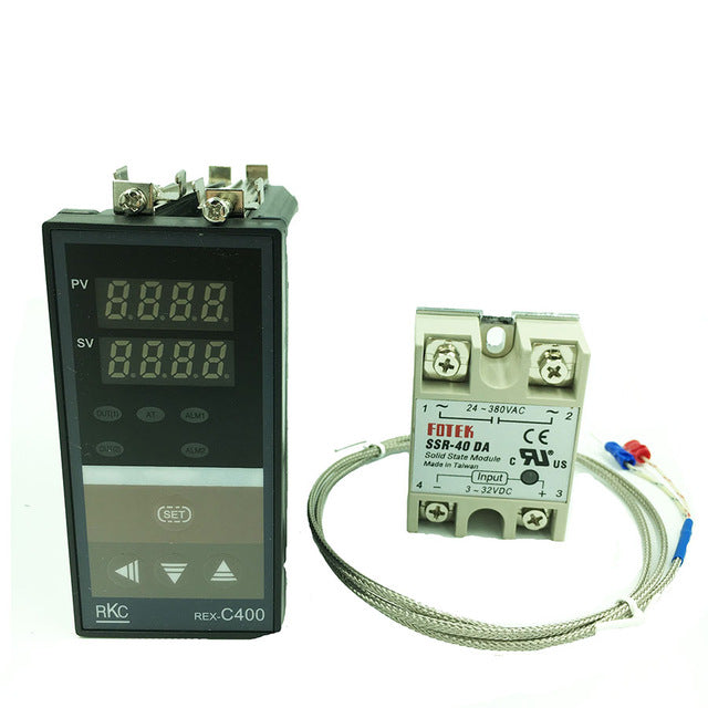 REX-C400 Digital thermostat  RKC PID Temperature Controller Thermostat (SSR Output)+K type thermocouple+Max 40A SSR relay