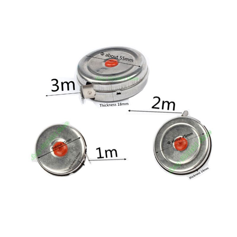 New Arrival 1m 2m 3m Mini Retractable Tape for Home Factory Office Stainless Steel Woodworking Tape Measure