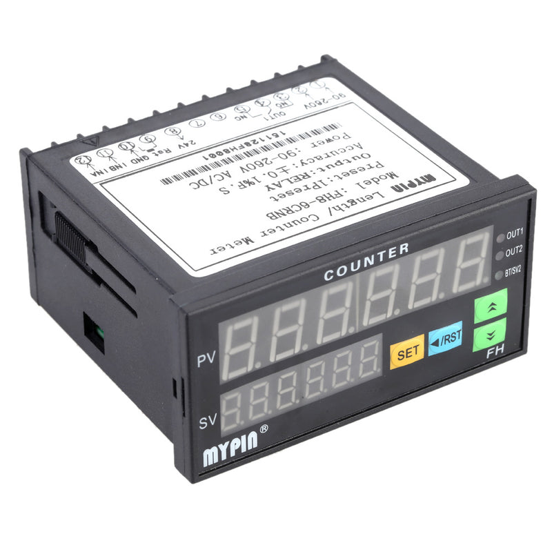 6 digits Digital Counter 90-260V AC/DC electronic Length Batch Meter 1 Preset Relay Output similar people finger counter