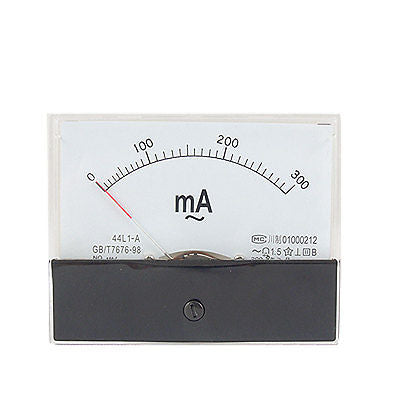 Rectangle Panel 0-300mA AC Analog Ammeter Amper Meter