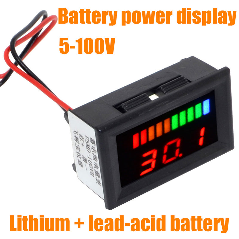 Universal 5-100V Dual LED Display Lithium/Lead-Acid Battery Tester Capacity Indicator Digital Voltmeter Free Shipping 12003075