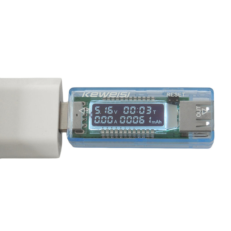 Quality Mobile Power Current and Voltmeter Ammeter Power Capacity Tester USB Charger Current Voltage Meter Charging Detector
