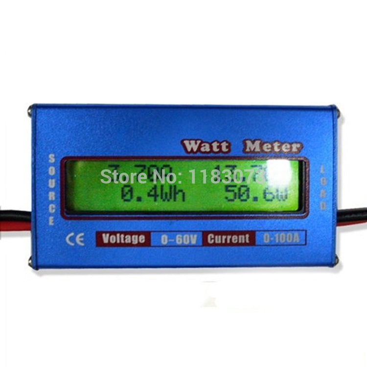 Multi-function Watt Meter New Digital LCD For DC 60V/100A Balance Voltage RC Battery Power Analyzer For Helicopter Free Shipping