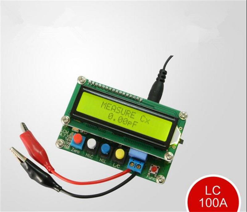 LC100-A Digital LCD High Precision Inductance Capacitance L/C Meter Tester Free Shipping 12002802