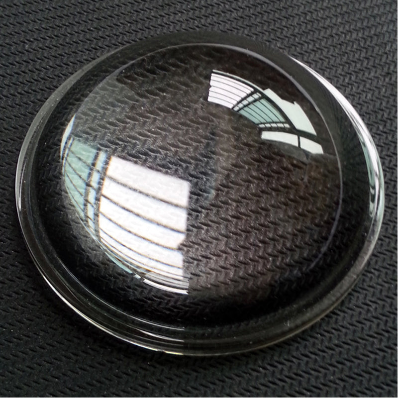 Wholesale - Diameter 52MM Height 24.8mm Automotive Lamp Glass Flashlight Lens glossy LED temperature optical convex lens