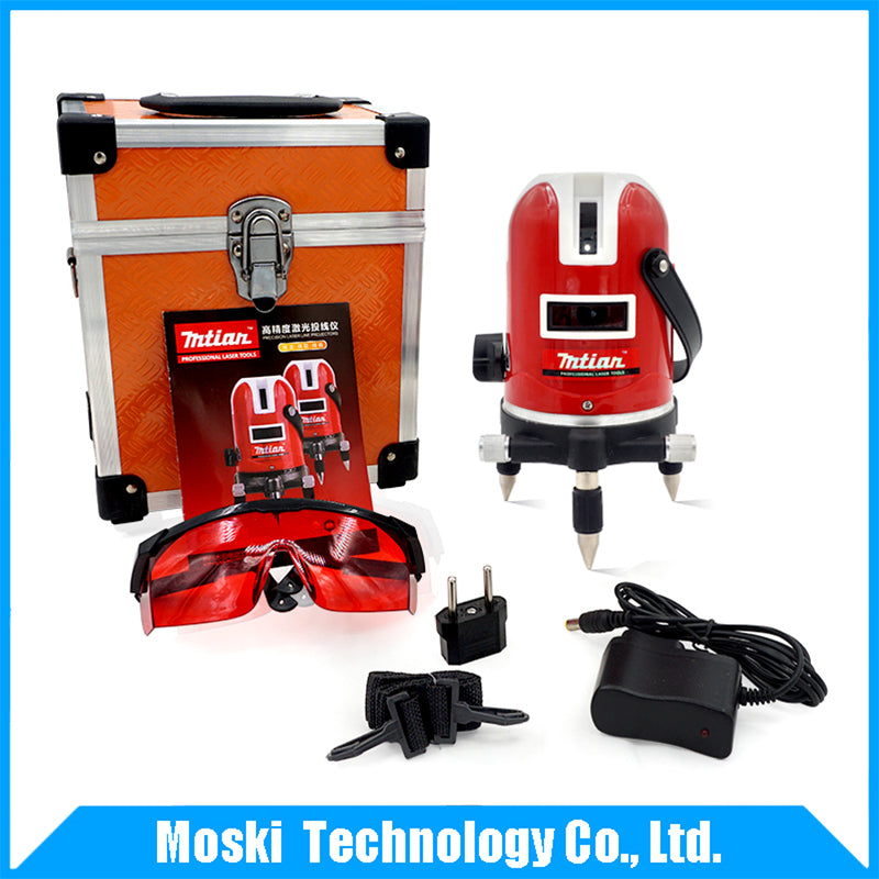 Mtian, 5 lines 6 points laser level Outdoor model Tilt Function 360 Rotary Self Lleveling cross laser beam line leveling
