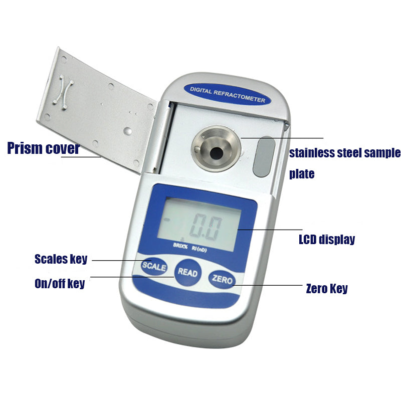 Brix 40-95% & 1.3990-1.5320nD Digital  refractometer PDR112