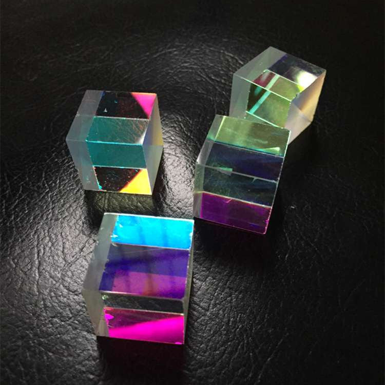4 PCS Beautiful DIY Defective X-Cube Prism RGB Combiner Splitter Cross Dichroic Prism for Party Home Decoration