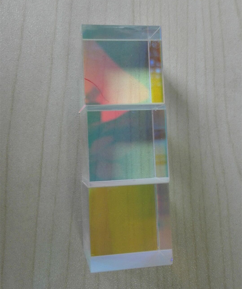 3pcs/lot 2.1x2.1x2.1cm Defective Cross Dichroic X-Cube Prism RGB Combiner or Splitter Prism
