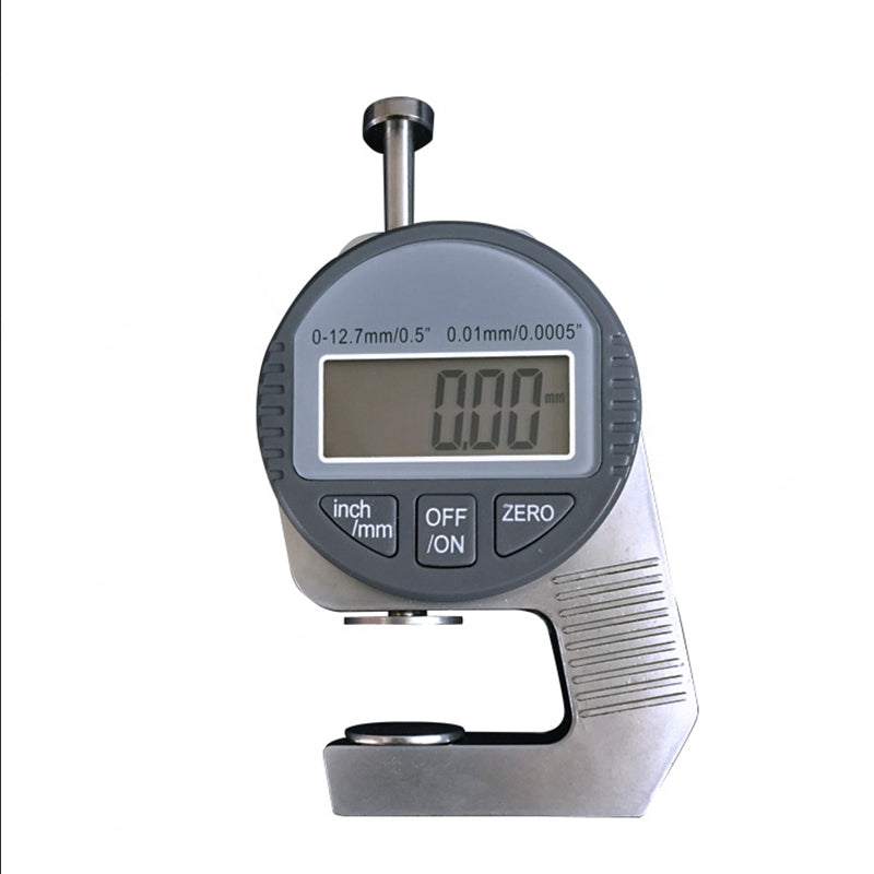 Mini 0.01mm Digital Thickness Gauge Meter 12.7mm Large LCD Electronic Dial Indicator Sponge Thickness Measure Tool WIth Box