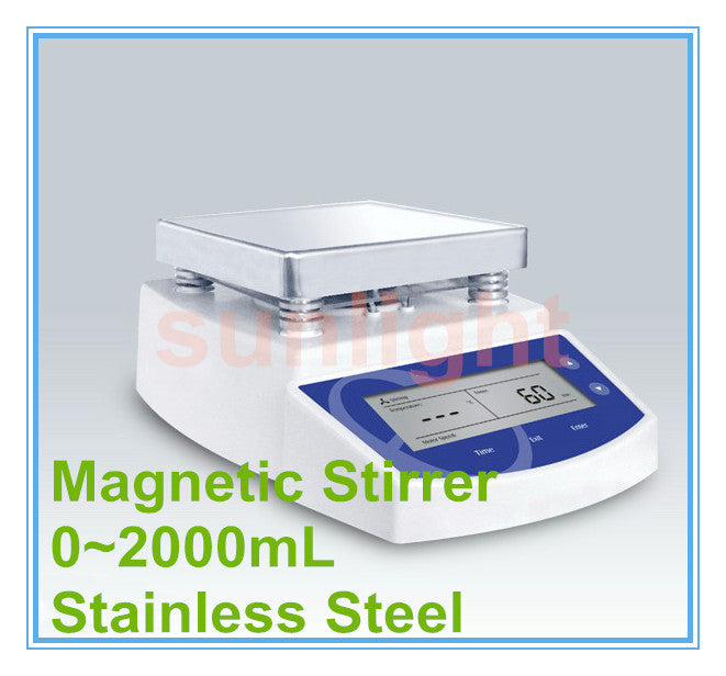 Digital Magnetic Stirrer with 2L Capacity and 0-1250rpm Stirring Speed