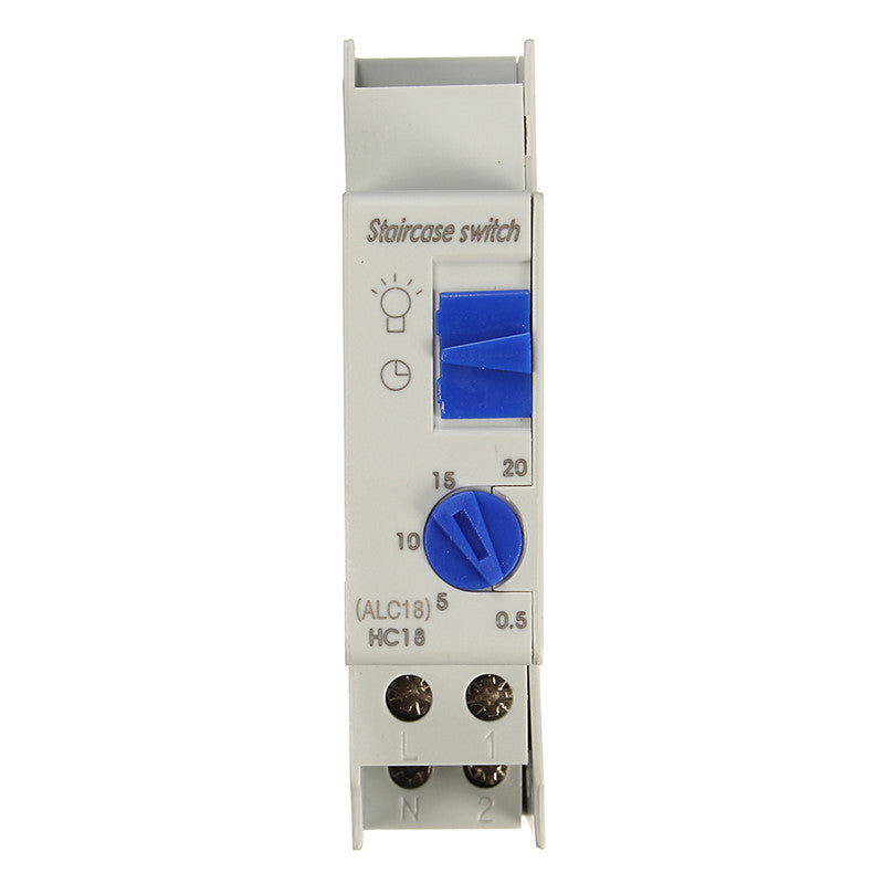 Timer Switch Din Rail Staircase Lighting Timer Relay 220VAC 16A light electric device equipment controller ALC18