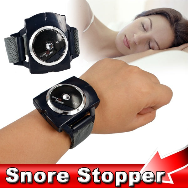Healthy Product Black Smart Anti- Snoring Wristband Intelligence Snore Stopper Infrared Ray Watch Snore Stopper