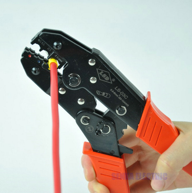 Ratchet Crimping Tool Insulated Terminals Crimping Tool For Plier Crimper 0.5-6mm2 AWG20-10 LS-03C