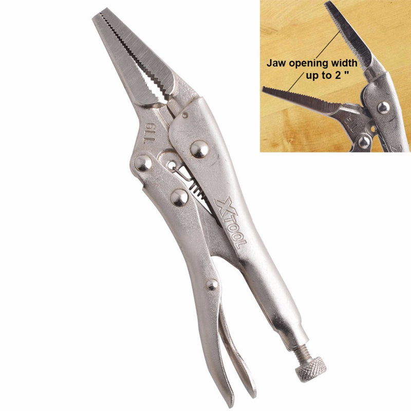 6.5inch/165MM CR-V Long Nose Vice Grip Locking Plier With Straight Jaw