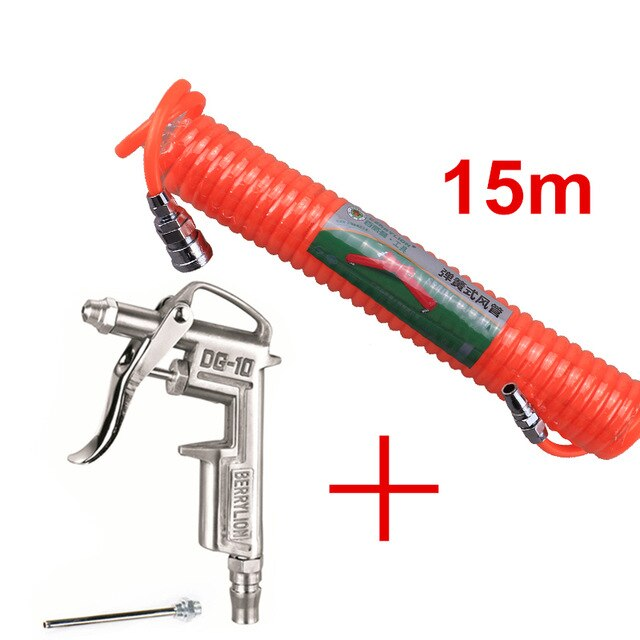 Air Blow Dust Gun Cleaning Gun Airbrush With Pneumatic Air Hose Polyurethane Spray Paint Gun Spring Tube Cleaning Tools
