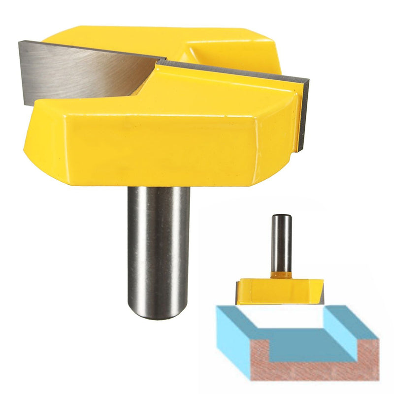 "Strong 1/2"" Shank 2-1/4"" Diameter Bottom Cleaning Router Bit Mayitr Woodworking Router Bits Milling Cutter for MDF Solid Wood"
