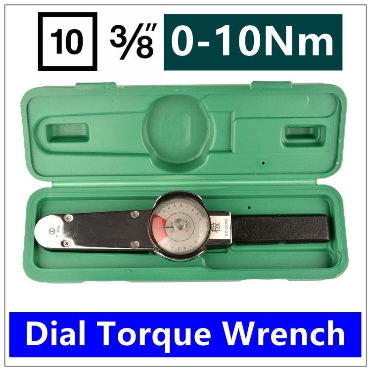 MXITA Dial torque spanner High-precision pointer torque wrench 3/8 0-10nm