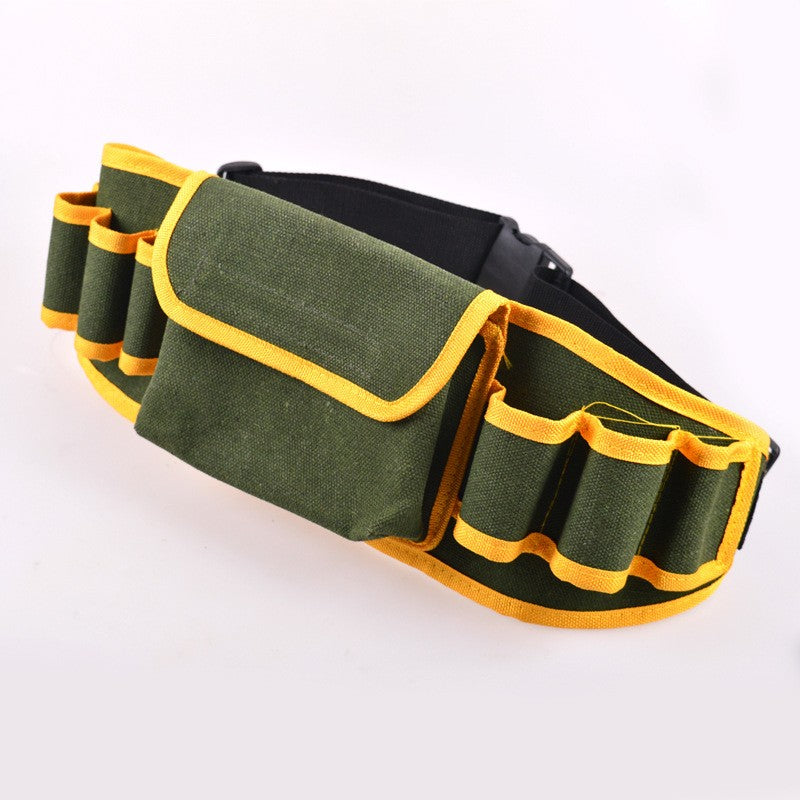 Portable Multifunctional Canvas Tool Bag Pouch Holder Electrician Mechanic Waist Pack Belt