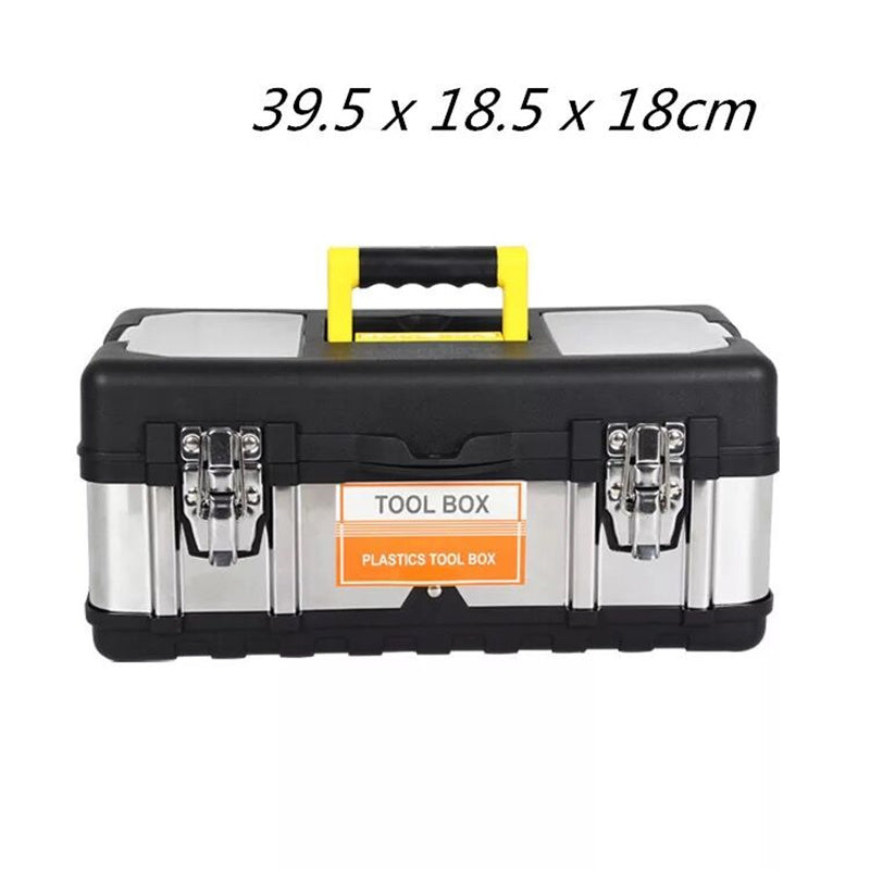 High Grade Stainless Steel + ABS Plastic Portable Toolbox Car Tools Storage Box Hardware Containers Electrical Tool Box