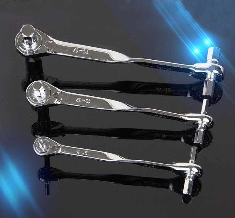 Ratchet hex wrench / double-headed ratchet wrench / car and motorcycle repair hardware tools