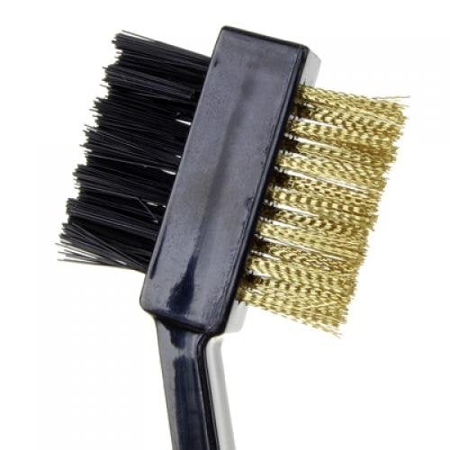 NFLC 2 Sides Golf Club Cleaning Brush with Snap Clip