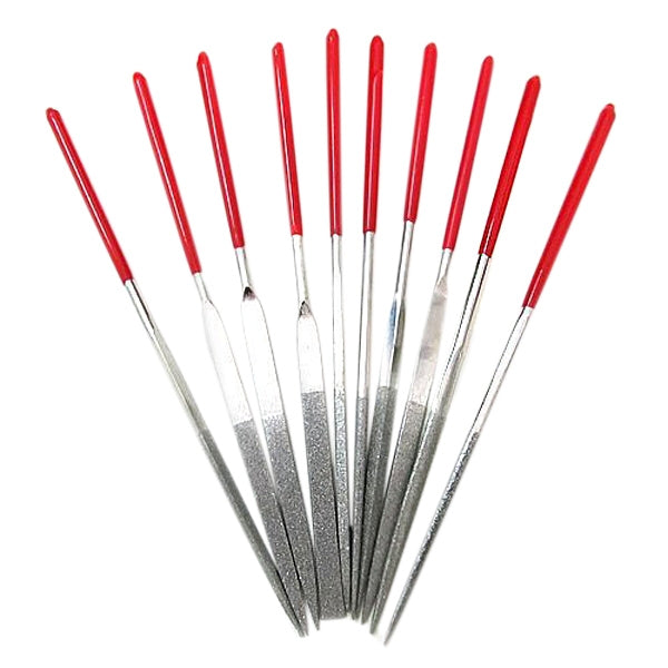 10Pcs 3 x 140mm Diamond Needle File Set Coated Riffler Jewelry Crafts Glass Wood Gringding Carving Repair Cutting Tools