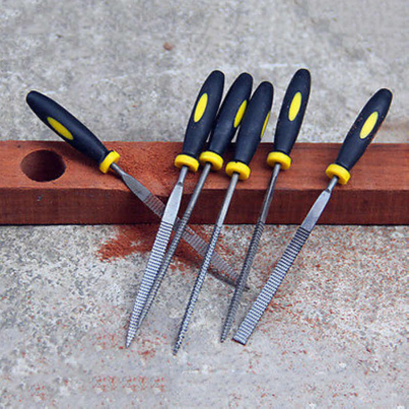 Durable 6pcs Mayitr Small Wooden Rasp Set Flat Round Square Triangle Halbrund Needle Files Woodworking DIY Tools