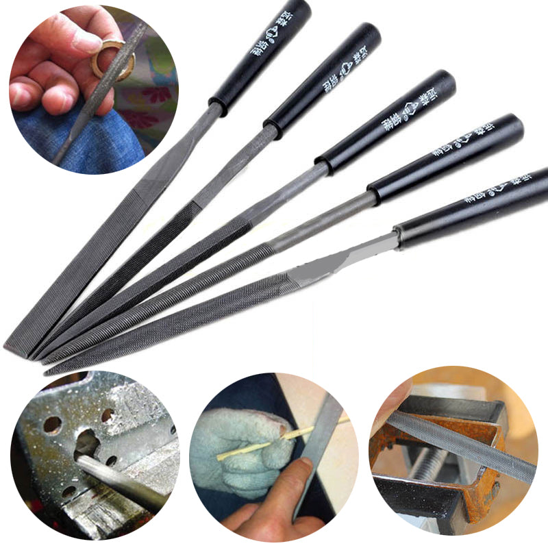 5pcs Needle Files Set Mini Handy Tools for Jeweler Diamond Wood Carving Metal Glass Stone Craft Tools