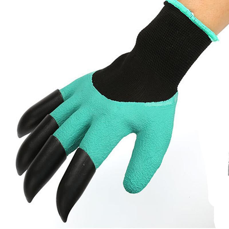 Best Match Garden Gloves with 4 ABS Plastic Claws for garden Digging Planting  1 pair Drop