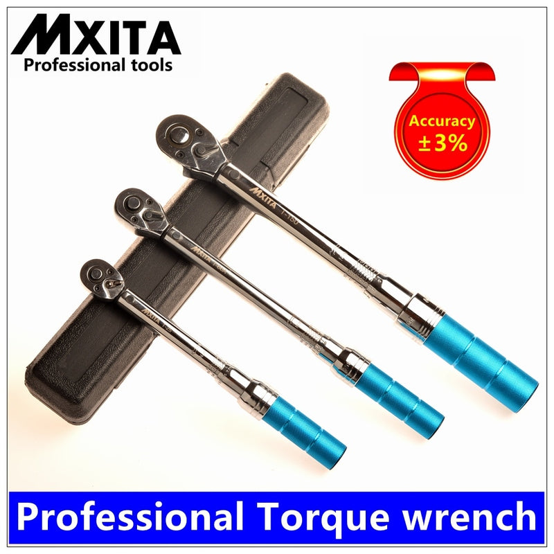 MXITA 1-400Nm Accuracy 3% High precision professional Adjustable Torque Wrench car Spanner  car Bicycle repair hand tools set