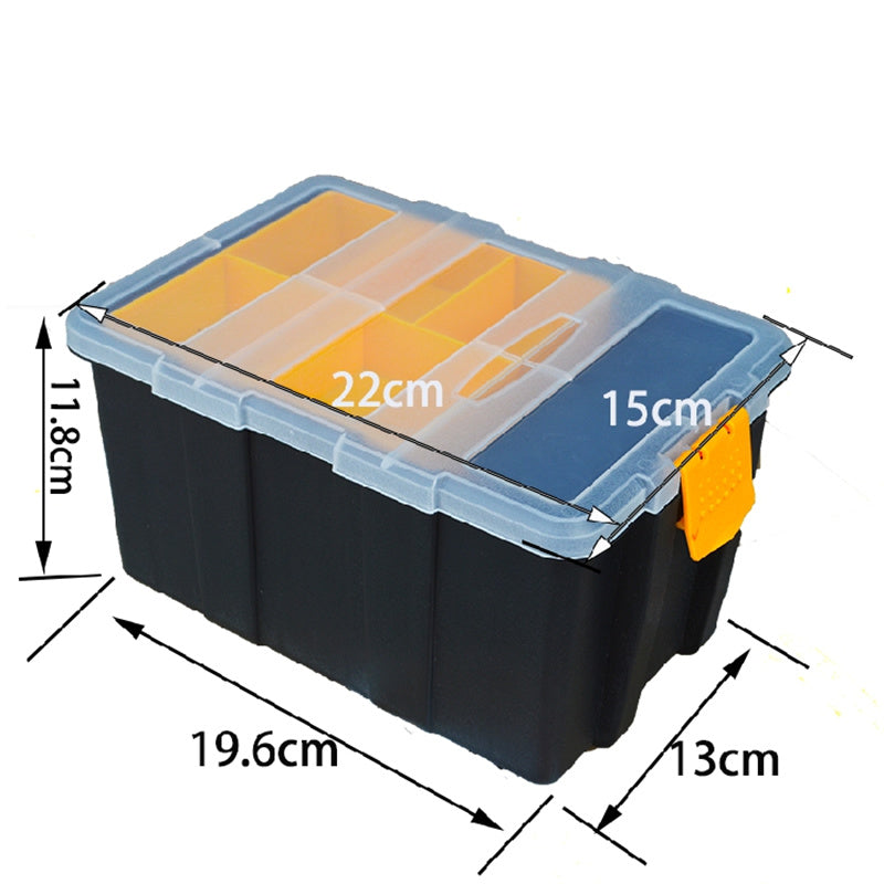 Industrial ABS Plastic Transparent Cover Tool Box Waterproof Wear - Resistant Metal Storage Box Modular Parts Screw Box