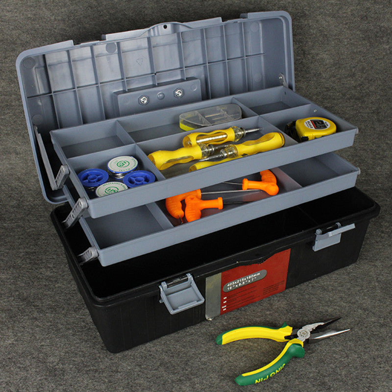 Strong and durable Plastic tool case Manual toolbox  maintenance tool boxes Folding tools storage box Portable storage box
