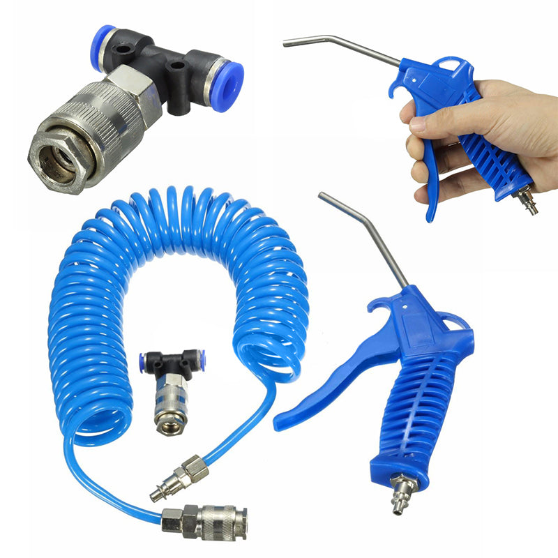 Air Duster Spray Gun with 5m Recoil Hose Truck Dust Blower Clean Nozzle Blow Spray Tool Kit for Car Paint Spray Gun Mayitr