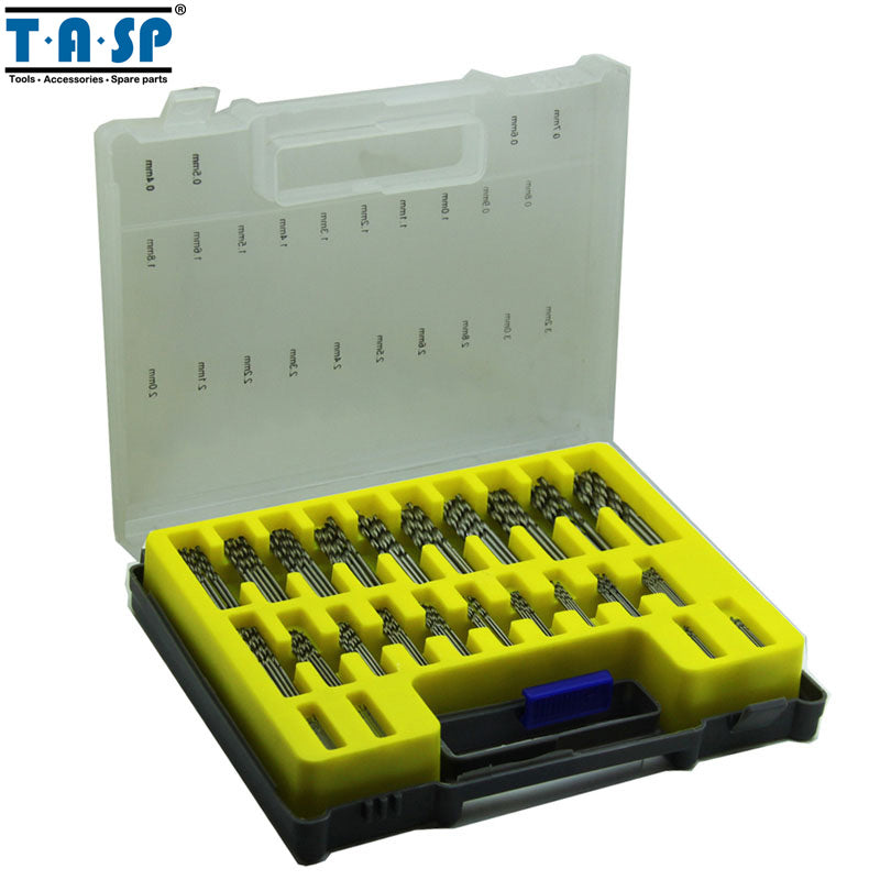 TASP 150PC HSS Micro PCB Drill Bit Set Precision Twist Drilling Kit with Storage Box