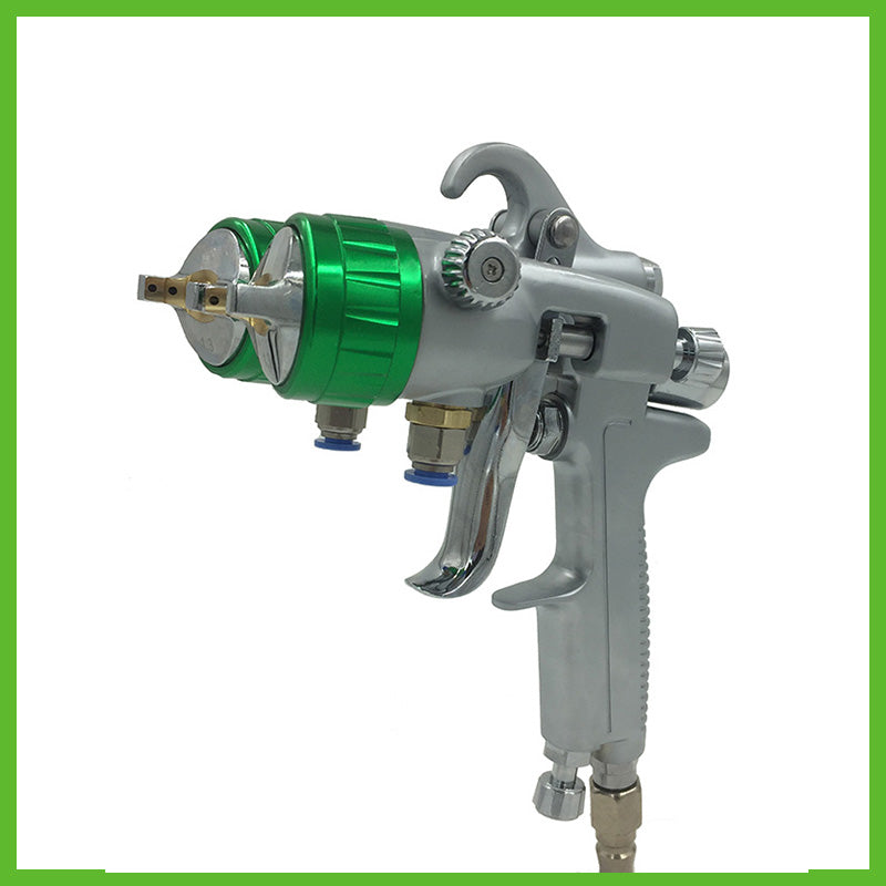 SAT1189 professional double nozzle spray gun for car painting wall painting furniture painting tools