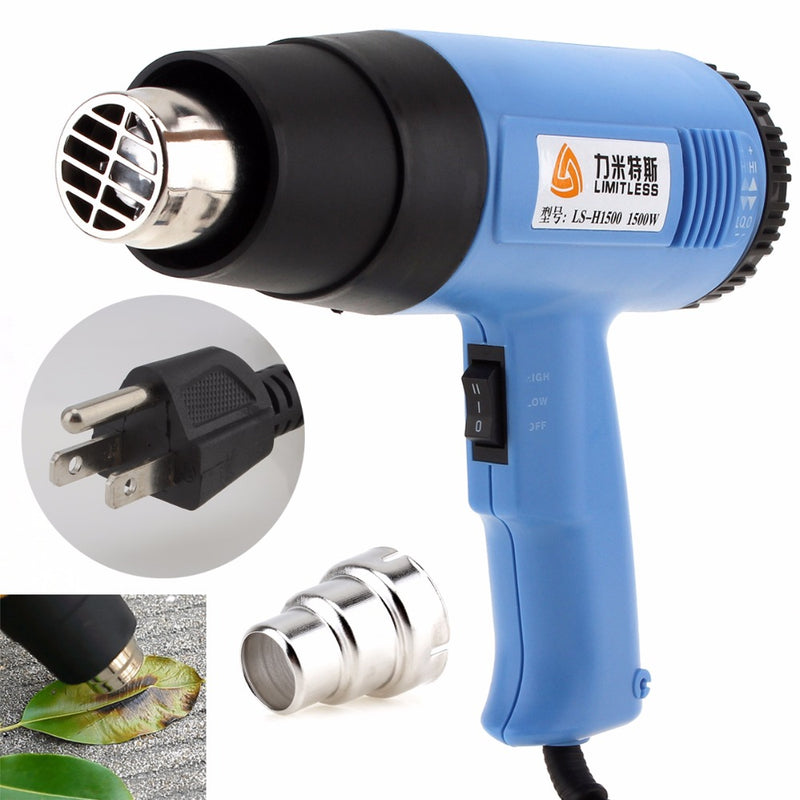 AC110V US Plug Adjustable Air Volume 1500W Electric Heat Gun Handheld Hotair Gun for Wallpaper Paint Stripping / Shrink Wrapping